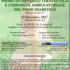 PRIMO INTERVENTO TERAPEUTICO E CHIRURGIA AMBULATORIALE NEL PIEDE DIABETICO PFA 2017