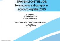 TRAINING ON THE JOB: formazione sul campo in ecocardiografia 2019 - ISCRIZIONI APERTE