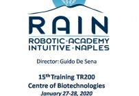 RAIN - Robotic Academy Intuitive Naples - 15th Training TR200