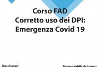 Corso FAD - Corretto uso dei DPI: Emergenza Covid 19