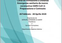 """F.A.D. """"Emergenza sanitaria da nuovo Coronavirus SARS CoV-2: preparazione e contrasto"""""""