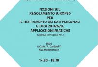 Corso RES - NOZIONI SUL REGOLAMENTO EUROPEO PER IL TRATTAMENTO DEI DATI PERSONALI G.D.P.R 2016/679. APPLICAZIONI PRATICHE - ISCRIZIONI APERTE -