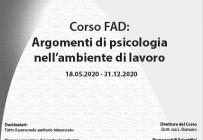 Corso FAD - Argomenti di psicologia nell'ambiente di lavoro