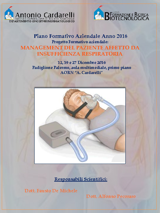 Management del paziente affetto da insufficienza respiratoria