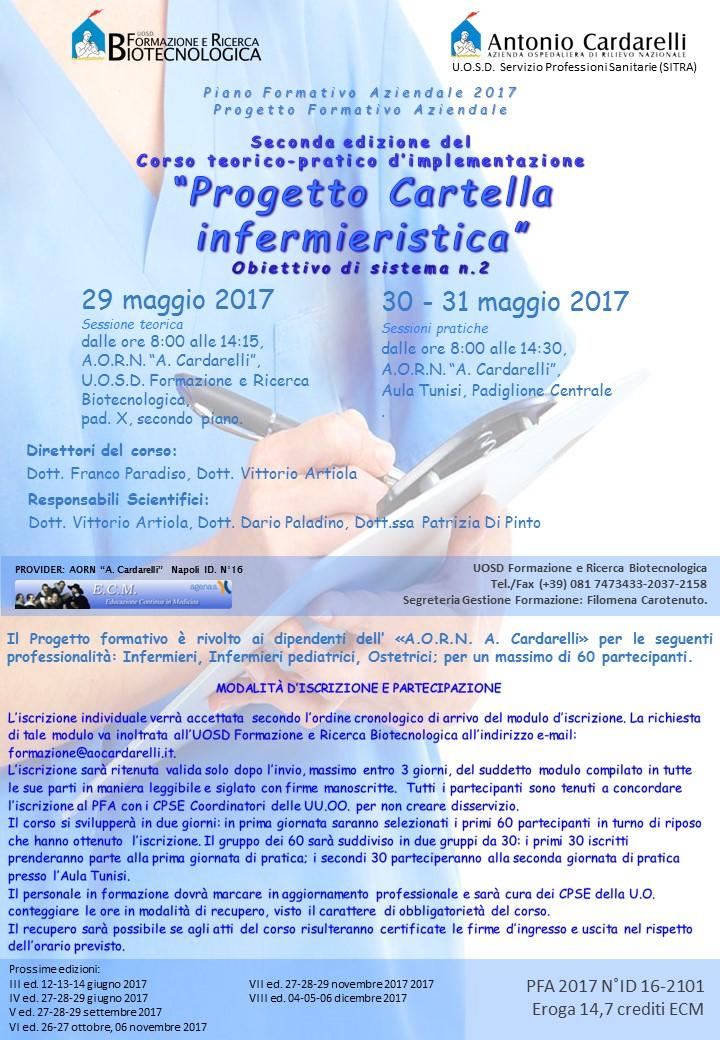 """Corso teorico-pratico d'implementazione: """"Progetto Cartella Infermieristica"""" Ed. II"""