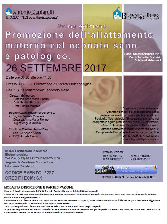 Promozione dell'allattamento materno nel neonato sano e patologico