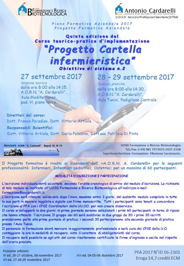 """Corso teorico-pratico d'implementazione: """"Progetto Cartella Infermieristica"""" Ed. V"""