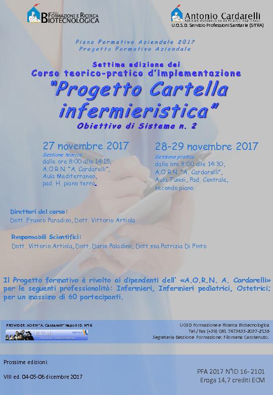 Corso teorico-pratico d'implementazione - Progetto Cartella infermieristica - PFA 2017