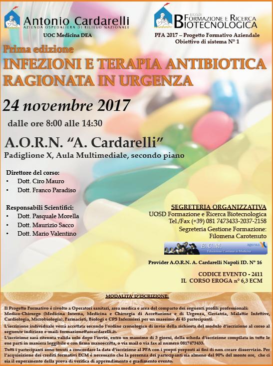 INFEZIONI E TERAPIA ANTIBIOTICA RAGIONATA IN URGENZA - PFA 2017