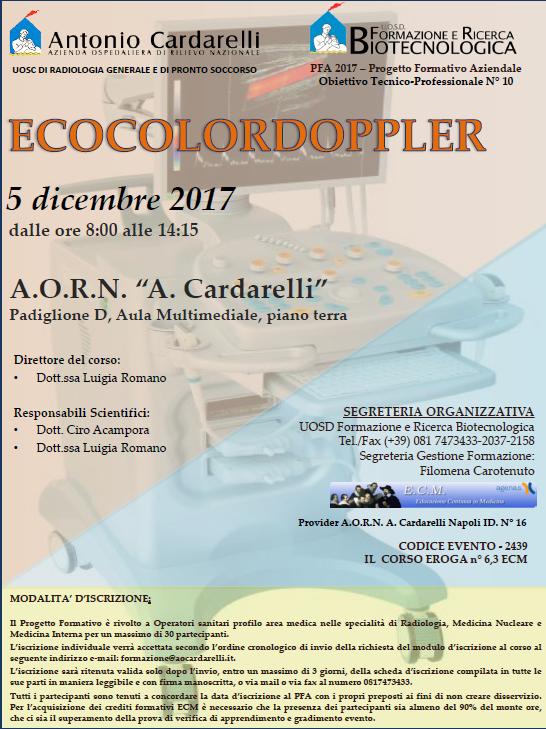 CORSO DI ECOCOLORDOPPLER - PFA 2017