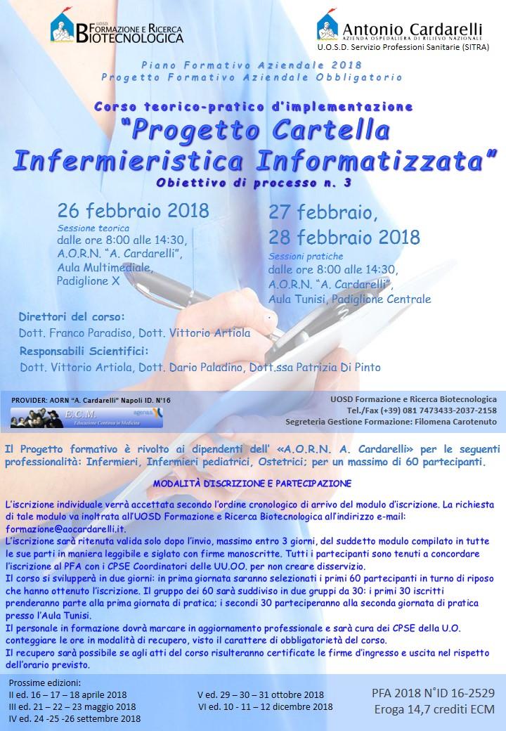 """Corso Teorico-Pratico: Implementazione """"Progetto Cartella Infermieristica Informatizzata"""""""
