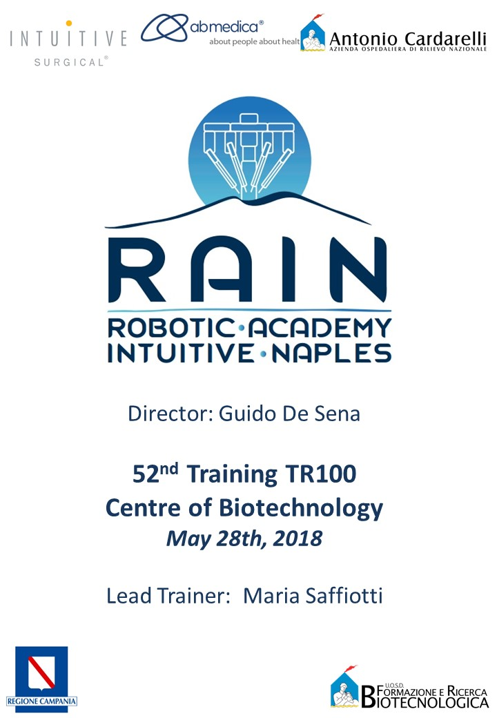 RAIN – Robotic Academy Intuitive Naples – 52nd Training TR100