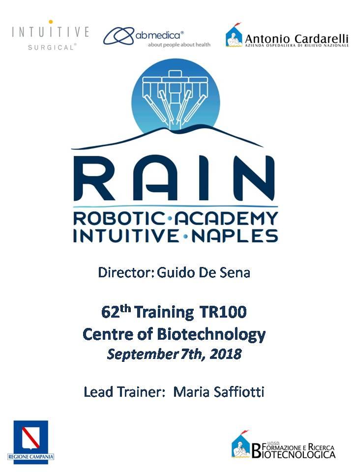 RAIN - Robotic Academy Intuitive Naples - 62th Training TR100