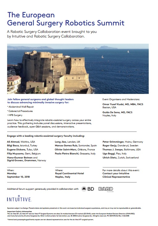 The European General Surgery Robotics Summit