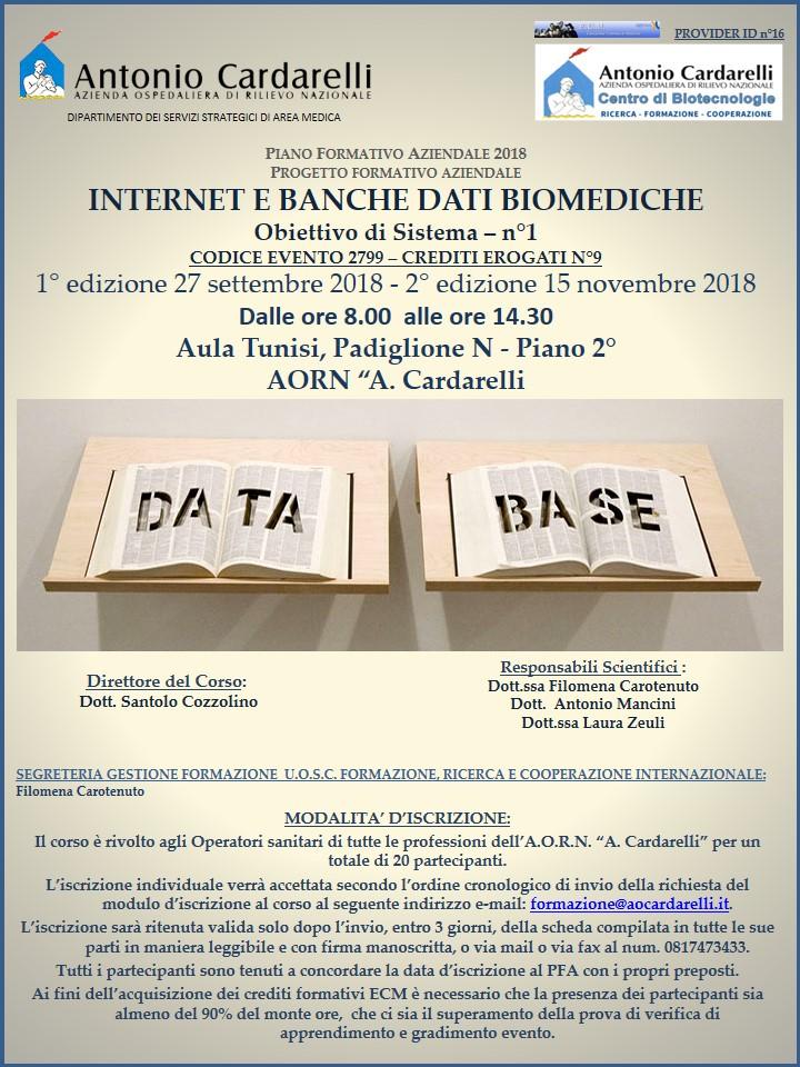 INTERNET E BANCHE DATI BIOMEDICHE -