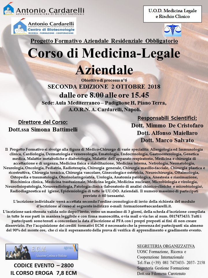 Corso di Medicina-Legale Aziendale