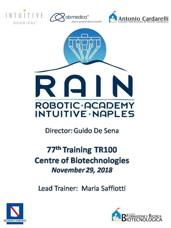 RAIN - Robotic Academy Intuitive Naples - 77th Training TR100