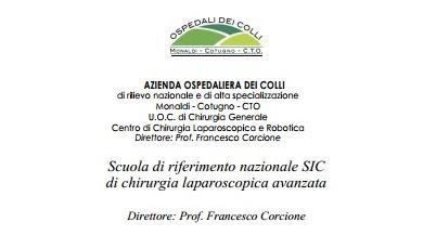 Scuola di riferimento nazionale SIC di chirurgia laparoscopica avanzata