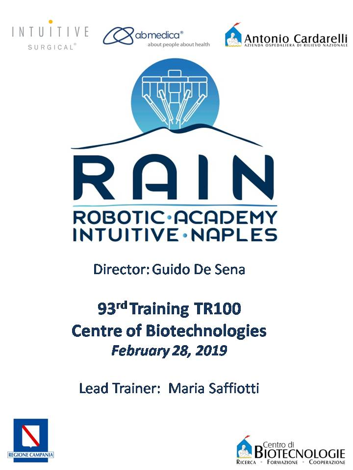 RAIN - Robotic Academy Intuitive Naples - 93rd Training TR100