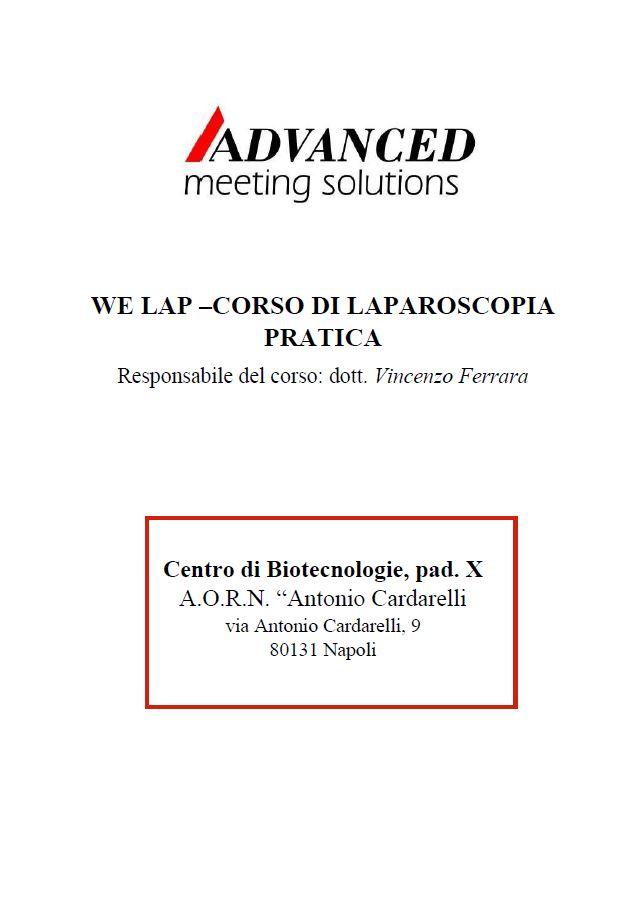We Lap: corso di Laparoscopia Pratica