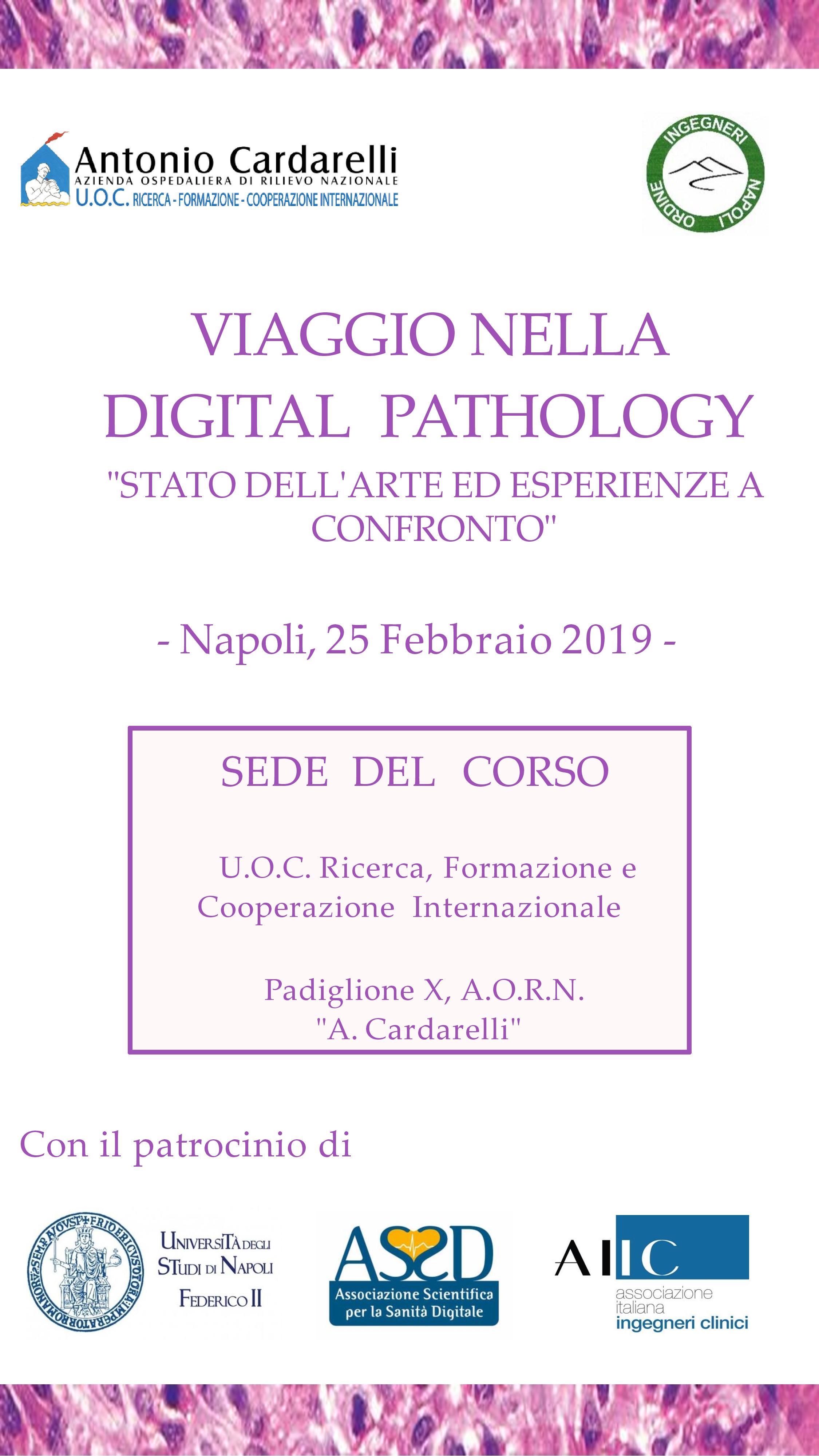 """""""Viaggio nella Digital Pathology: stato dell'arte ed esperienze a confronto"""""""