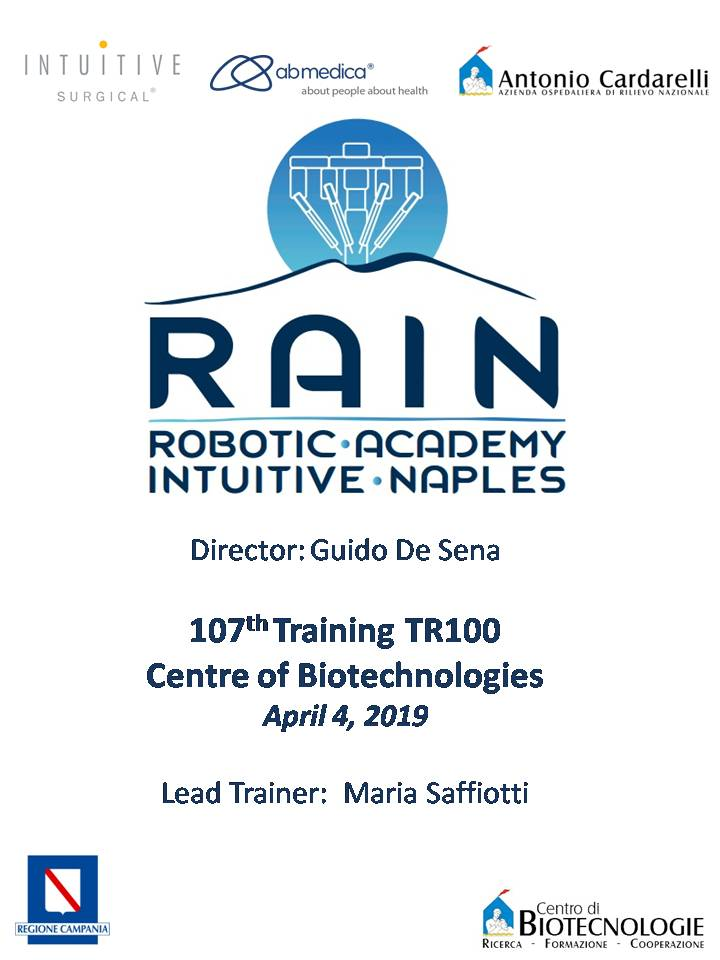 RAIN - Robotic Academy Intuitive Naples - 107th Training TR100