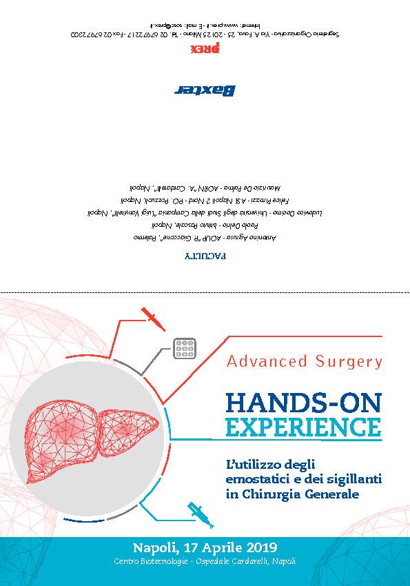Hands‐on Experience - L'utilizzo degli emostatici e dei sigillanti in Chirurgia Generale