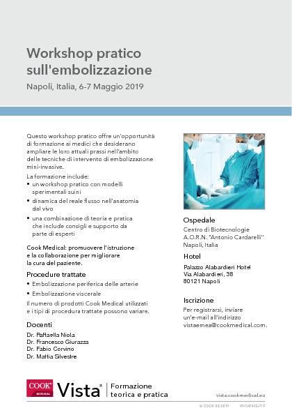 Workshop pratico sull'embolizzazione