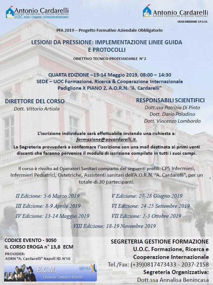 LESIONI DA PRESSIONE: IMPLEMENTAZIONE LINEE GUIDA E PROTOCOLLI - CORSO EROGATO -