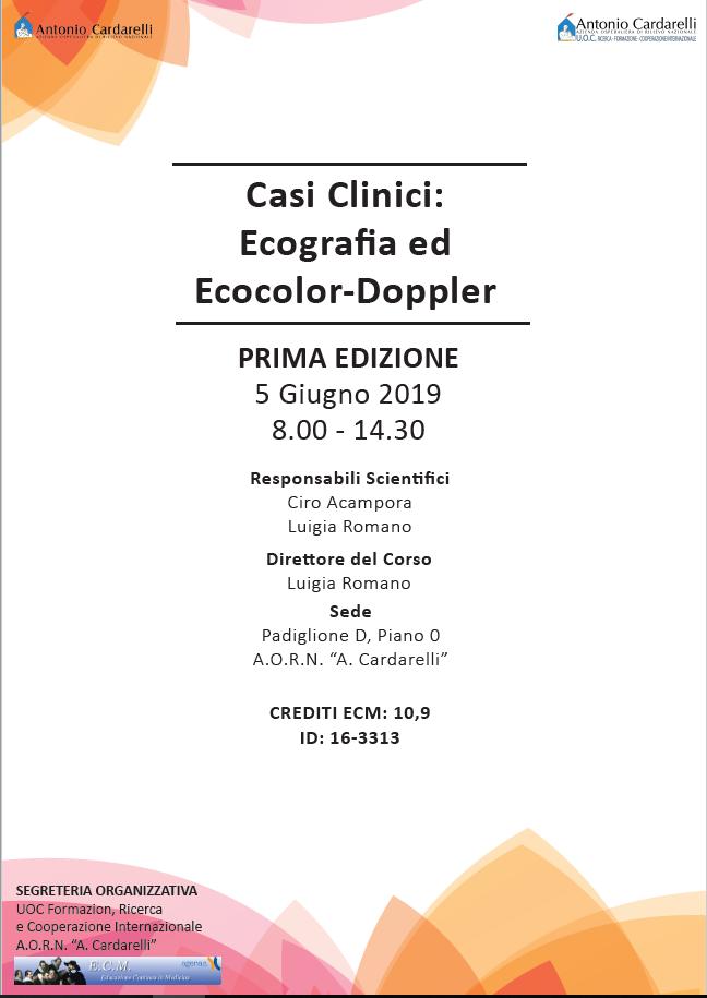 Casi Clinici: Ecografia ed Ecocolor-Doppler - CORSO EROGATO