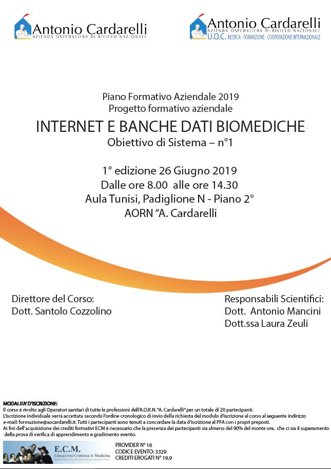 Internet e Banche Dati Biomediche - CORSO EROGATO