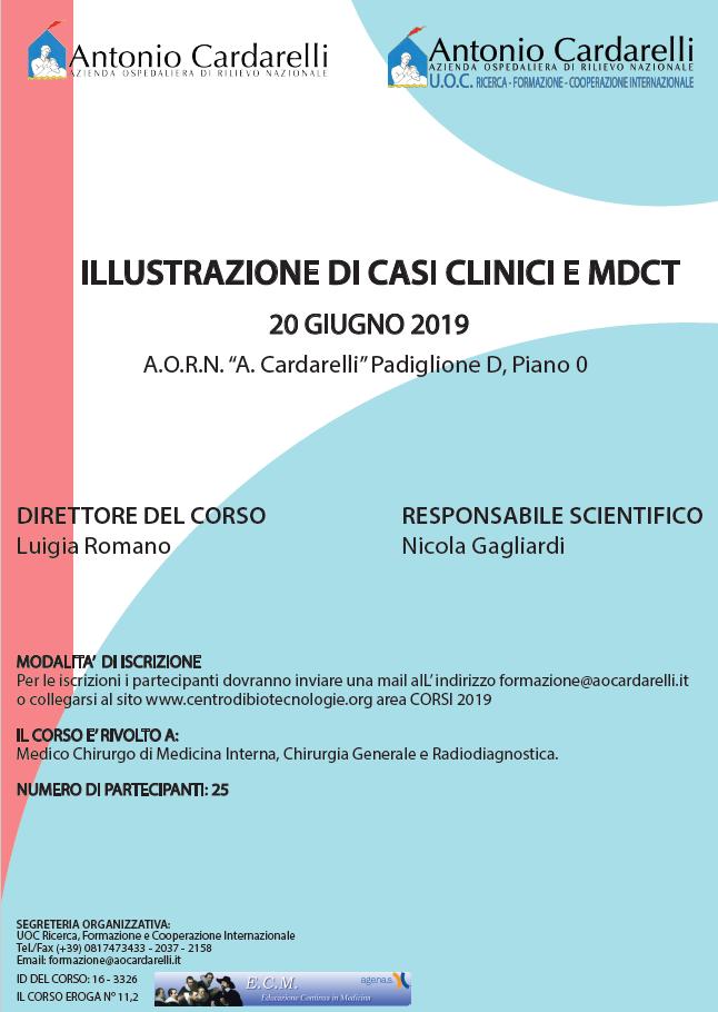 ILLUSTRAZIONE DI CASI CLINICI E MDCT - CORSO EROGATO