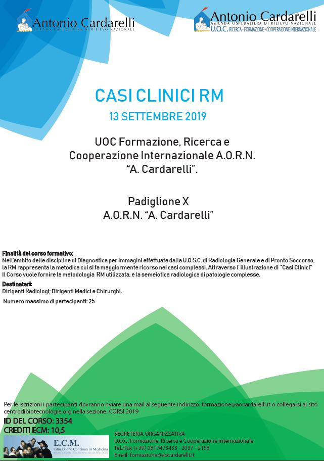 CASI CLINICI RM - CORSO EROGATO