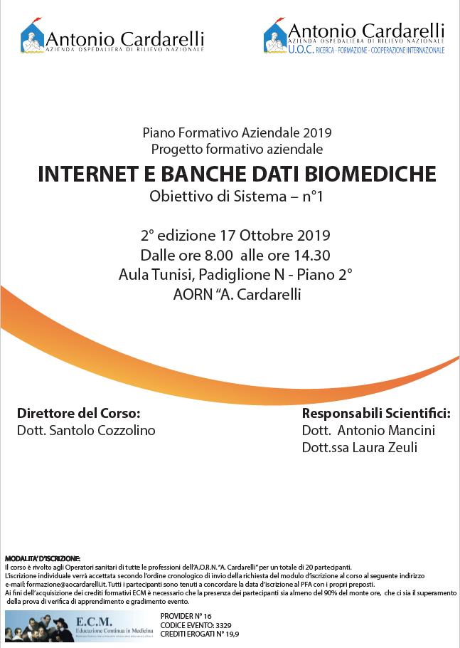Internet e Banche Dati Biomediche - ISCRIZIONI CHIUSE -