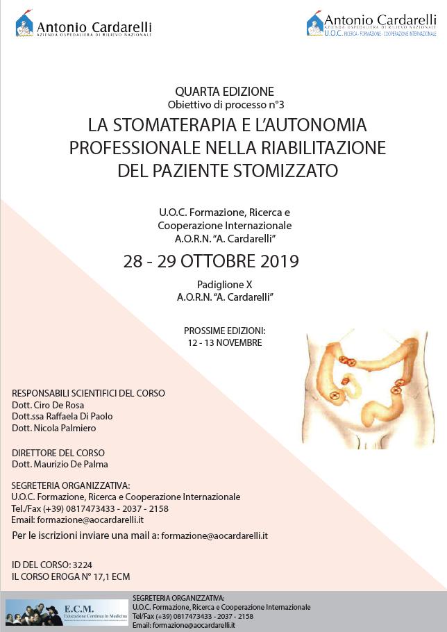 La stomaterapia e l'autonomia professionale nella riabilitazione del paziente stomizzato - ISCRIZIONICHIUSE -