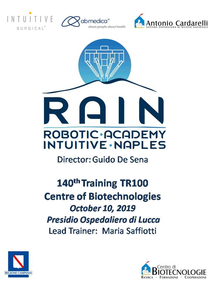 RAIN - Robotic Academy Intuitive Naples - 140th Training TR100