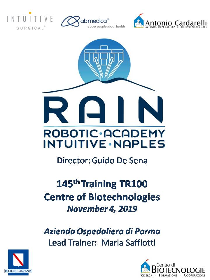 RAIN - Robotic Academy Intuitive Naples - 145th Training TR100