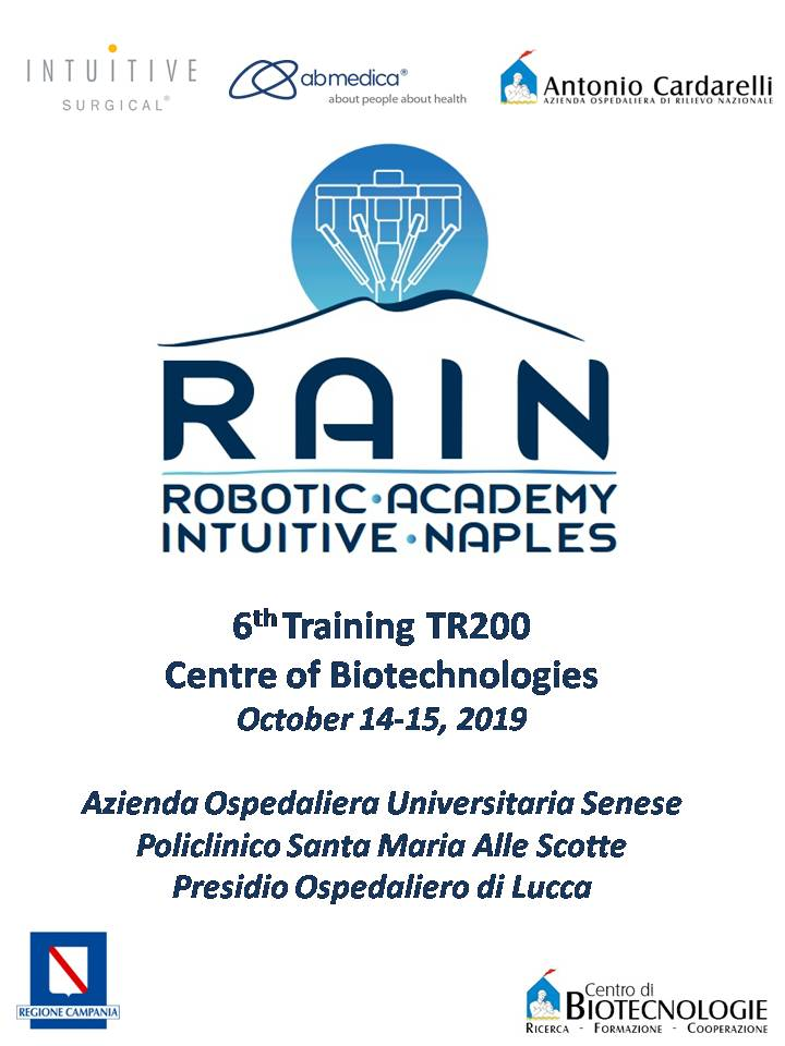 RAIN - Robotic Academy Intuitive Naples - 6th Training TR200
