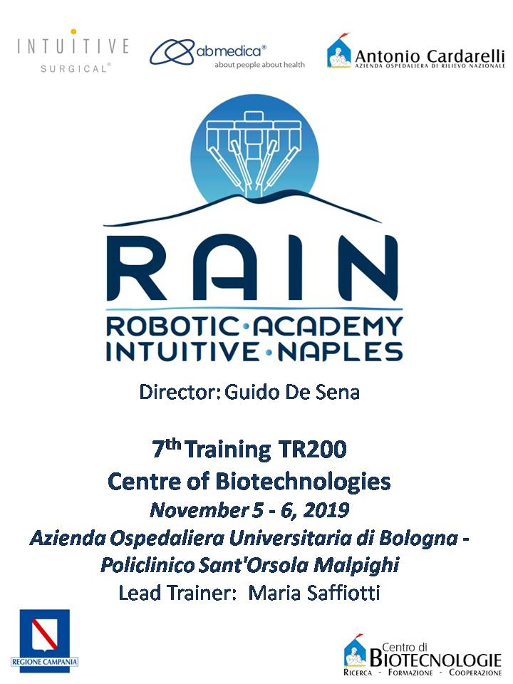 RAIN - Robotic Academy Intuitive Naples - 7th Training TR200