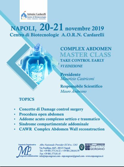 Complex Abdomen Master Class Take Control Early - VI Edizione