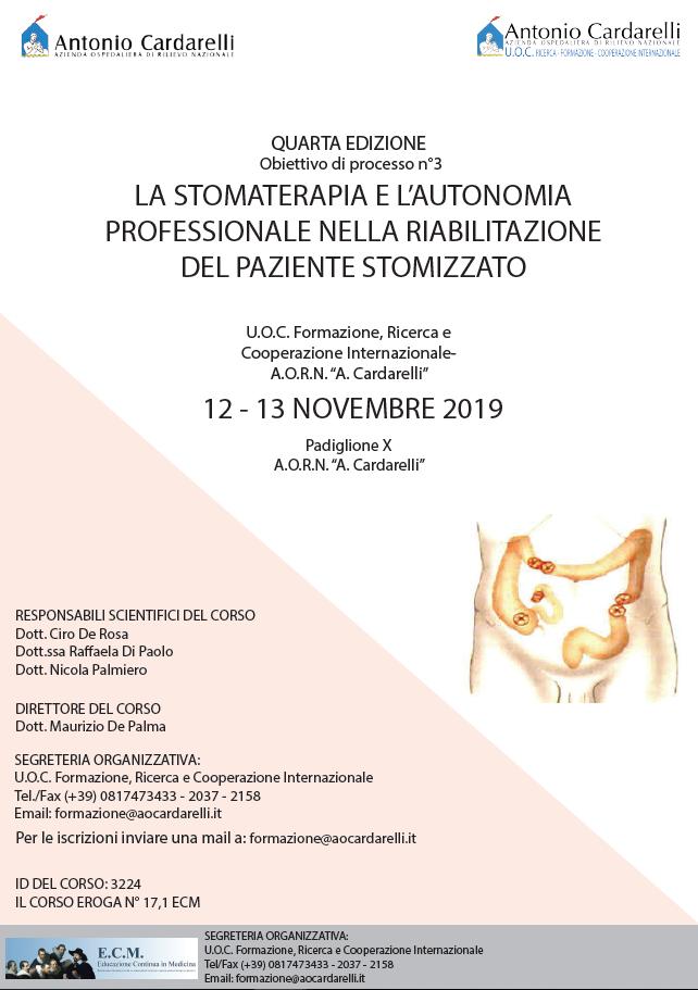 La stomaterapia e l'autonomia profesisonale nella riabilitazione del paziente stomizzato - ISCRIZIONI CHIUSE -