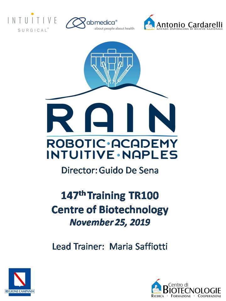 RAIN - Robotic Academy Intuitive Naples - 147th Training TR100