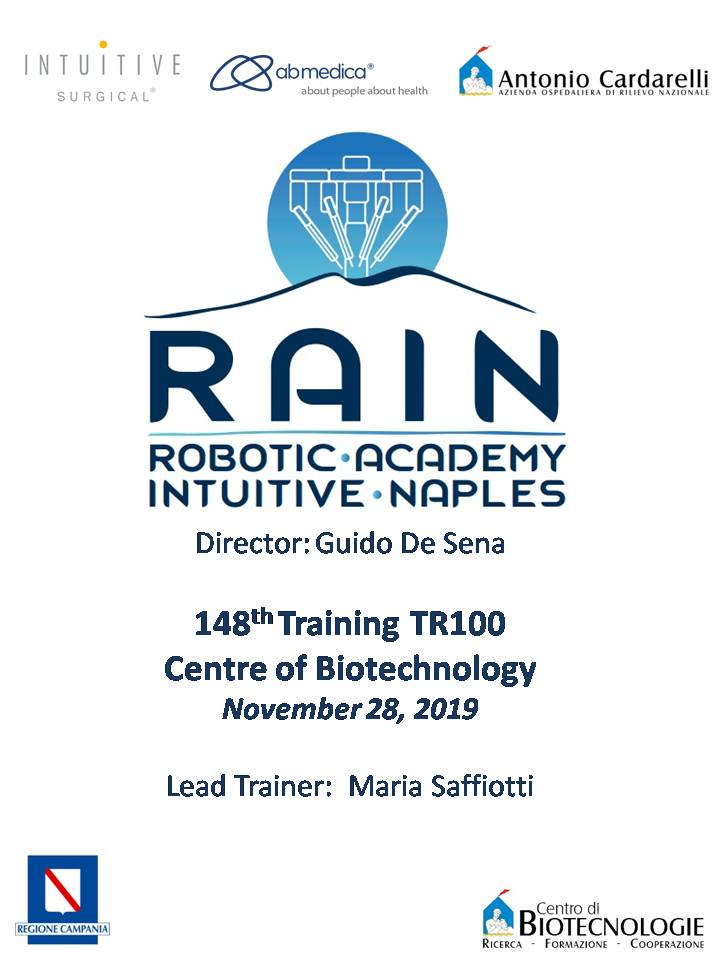 RAIN - Robotic Academy Intuitive Naples - 148th Training TR100
