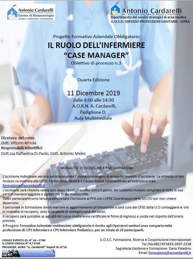 """Il Ruolo Dell'Infermiere """"CASE MANAGER"""" - ISCRIZIONI CHIUSE -"""