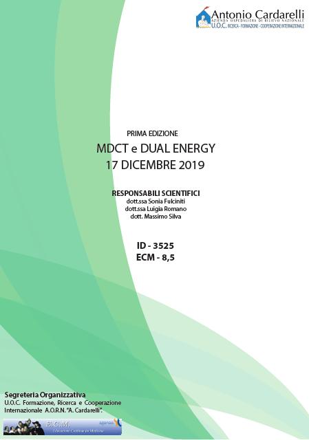 MDCT e DUAL ENERGY - ISCRIZIONI APERTE -
