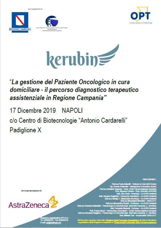 Corso Kerubin - La gestione del Paziente Oncologico in cura domiciliare il percorso diagnostico terapeutico assistenziale in Regione Campania