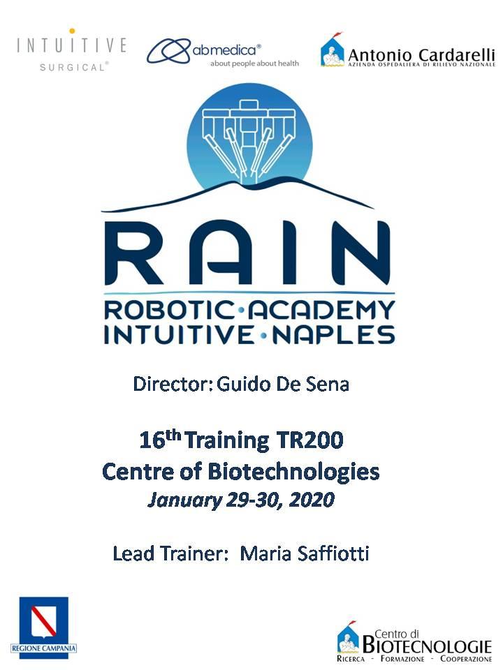 RAIN - Robotic Academy Intuitive Naples - 16th Training TR200