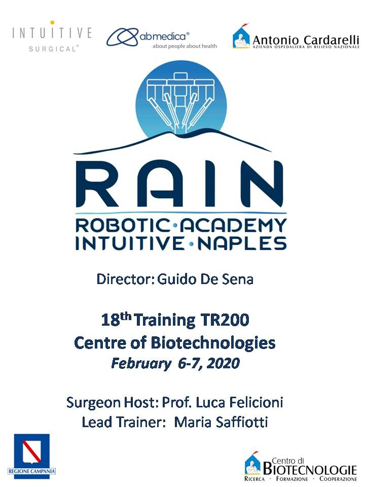 RAIN - Robotic Academy Intuitive Naples - 18th Training TR200