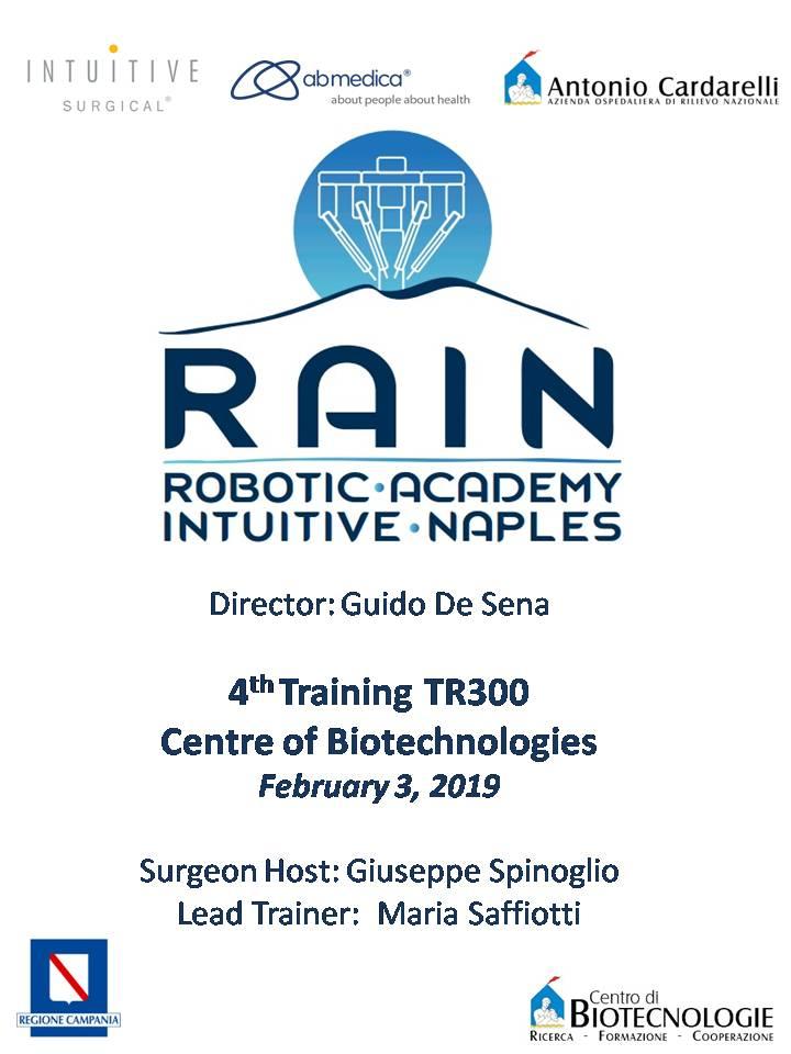 RAIN - Robotic Academy Intuitive Naples - 4th Training TR300