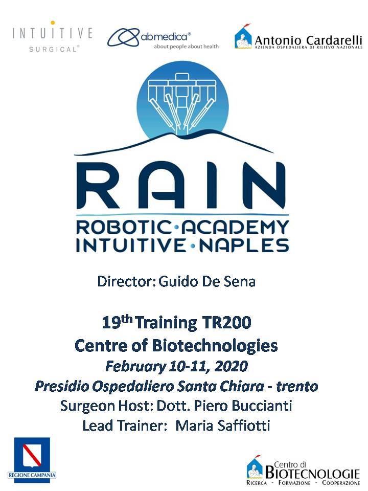RAIN - Robotic Academy Intuitive Naples - 19th Training TR200